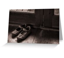 A childs shoes Greeting Card