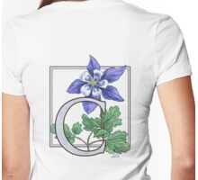 C is for Columbine Womens Fitted T-Shirt