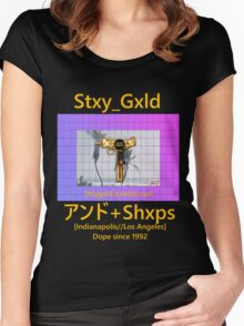 Shxps X Stay Gold Women's Fitted Scoop T-Shirt