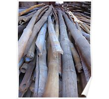Bamboo Bamboo Rod Build Scaffold Brown Poster