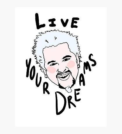 Pastel guy fieri aesthetic Photographic Print
