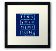 Doctor Who Police Box Sweater Framed Print