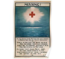 Missing! To the sisters of the Red Cross who have perished in hospital ships sunk by German submarines 037 Poster
