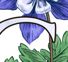 C is for Columbine - full image Sticker