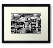 Black and White Scotney Castle Framed Print