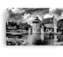 Black and White Scotney Castle Canvas Print