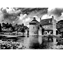 Black and White Scotney Castle Photographic Print
