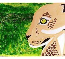 Leopard and Jungle by artisallstudios