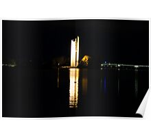 Carillon reflection with added sleeping swan Poster
