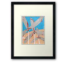 Windmills and Desert Framed Print