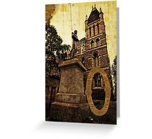 Grungy Melbourne Australia Alphabet Letter O Francis Ormond Statue Greeting Card