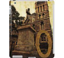 Grungy Melbourne Australia Alphabet Letter O Francis Ormond Statue iPad Case/Skin