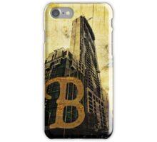 Grungy Melbourne Australia Alphabet Letter B Central Business District iPhone Case/Skin