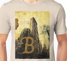 Grungy Melbourne Australia Alphabet Letter B Central Business District Unisex T-Shirt