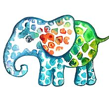 Rainbow Elephant by Emma Kaufmann