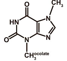 Theobromine Molecule - Chocolate by Anny Arden