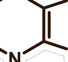 Theobromine Molecule - Chocolate Sticker