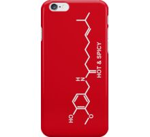 Hot and Spicy: Capsaicin Molecule iPhone Case/Skin