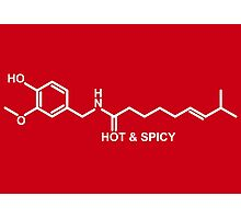 Hot and Spicy: Capsaicin Molecule Photographic Print