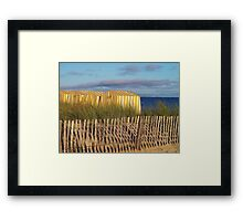 the beach huts in Carnac Framed Print
