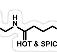 Hot and Spicy: Capsaicin Molecule Sticker