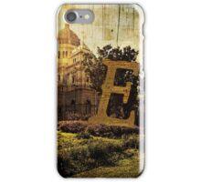 Grungy Melbourne Australia Alphabet Letter E Royal Exhibition Building iPhone Case/Skin