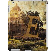 Grungy Melbourne Australia Alphabet Letter E Royal Exhibition Building iPad Case/Skin