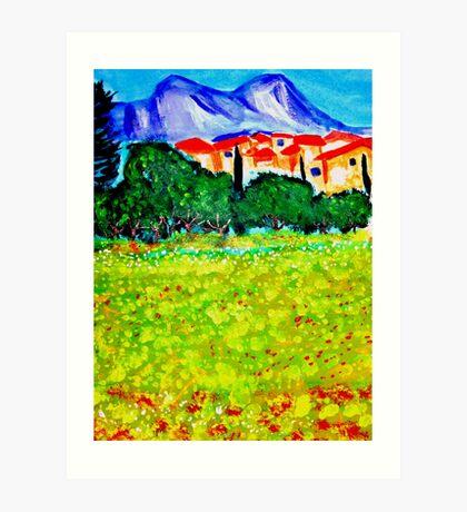 Les Alpilles Art Print