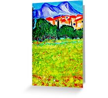 Les Alpilles Greeting Card
