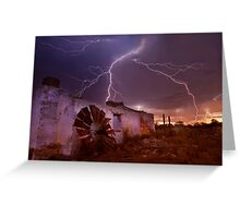 West Australian summer storms Greeting Card