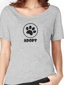 Adopt (Paw Print) Women's Relaxed Fit T-Shirt