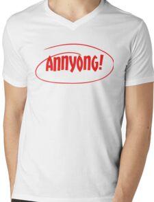 Annyong! Mens V-Neck T-Shirt