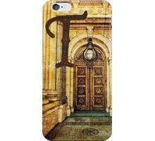 Grungy Melbourne Australia Alphabet Letter T Old Treasury Building iPhone Case/Skin