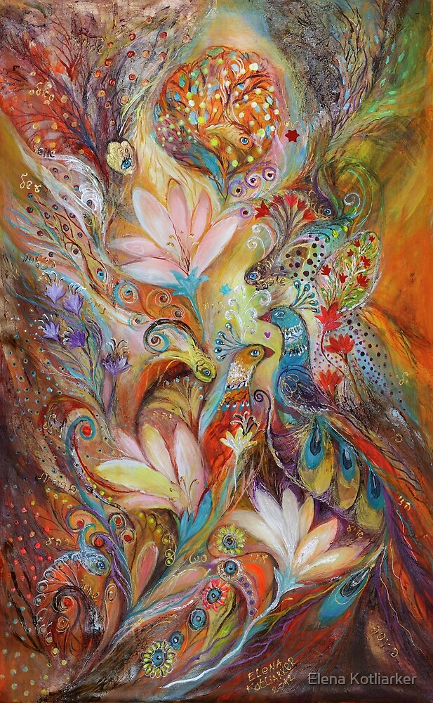 The lilies and bell flowers by Elena Kotliarker