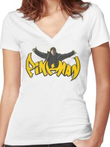PiNKMAN Women's Fitted V-Neck T-Shirt