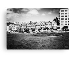 The Painted Ladies B/W Canvas Print