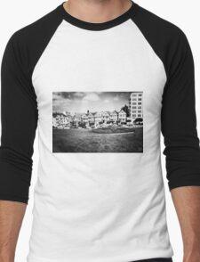 The Painted Ladies B/W Men's Baseball ¾ T-Shirt