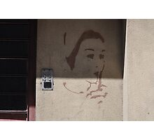 Graffiti and Old Door Photographic Print