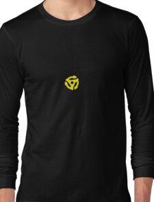 Classic Yellow 45 Vinyl Record Single Adapter Long Sleeve T-Shirt