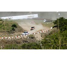 Rally Racing Excitement Photographic Print