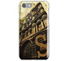 Grungy Melbourne Australia Alphabet Letter S Collins Street iPhone Case/Skin