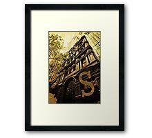 Grungy Melbourne Australia Alphabet Letter S Collins Street Framed Print