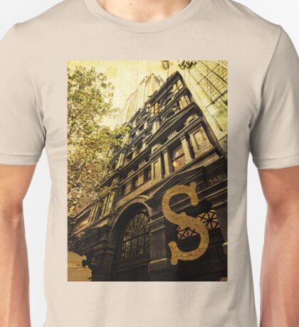 Grungy Melbourne Australia Alphabet Letter S Collins Street Unisex T-Shirt