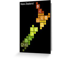 New Zealand Fun Map Greeting Card