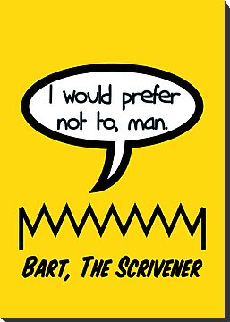 Bart, The Scrivener by lethalfizzle