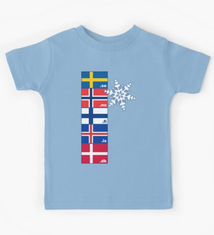 Nordic Cross Flags Kids Tee