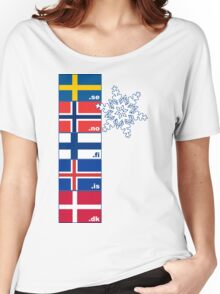Nordic Cross Flags Women's Relaxed Fit T-Shirt