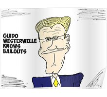 Guido Westerwelle caricature Poster