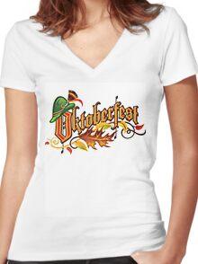 Oktoberfest T-Shirt Women's Fitted V-Neck T-Shirt
