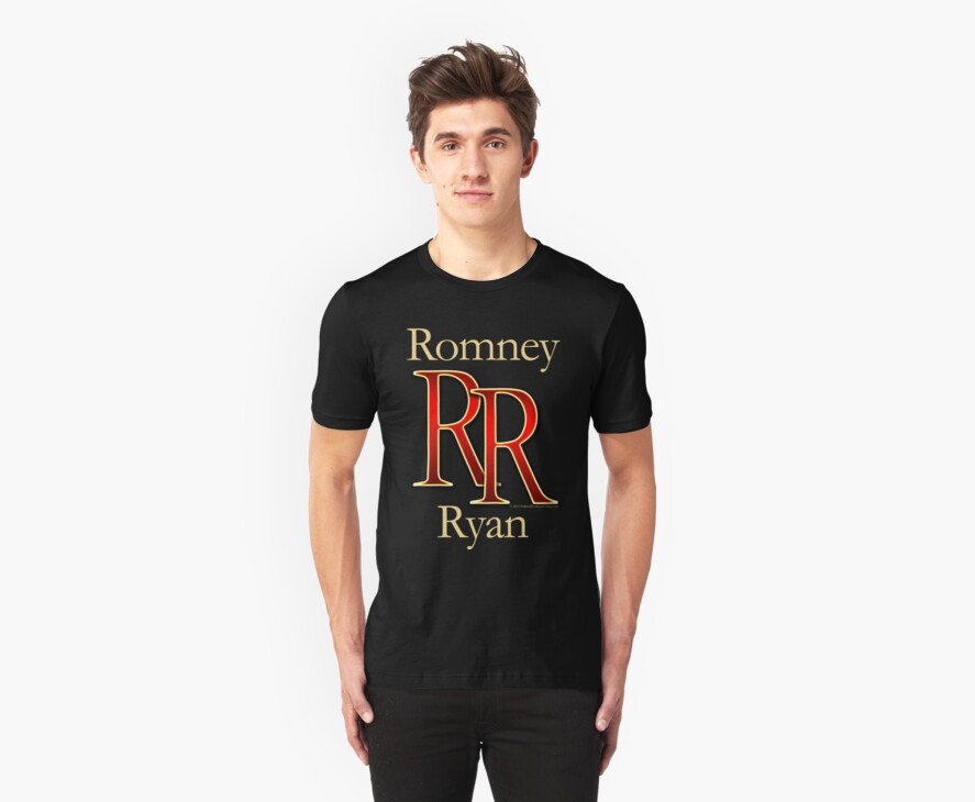 RR Romney Ryan Luxury Look T-Shirt by CuteNComfy